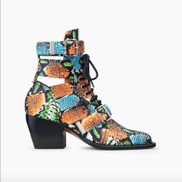 b56bba0b654 Chloe Rylee boot in psychedelic calf skin sz 36